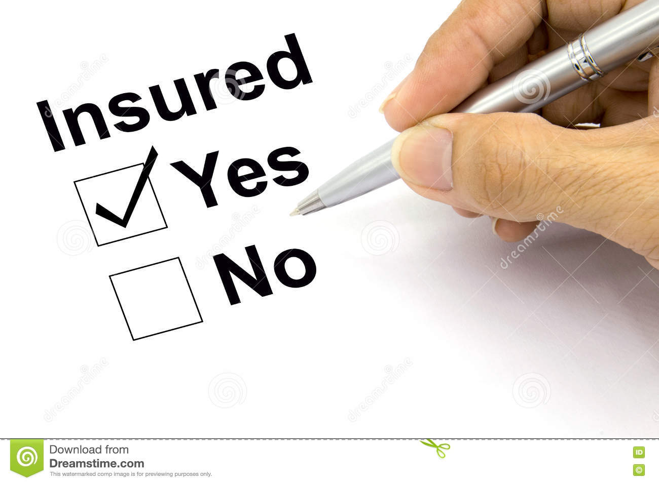 Question Mark Between Yes No Checkbox Stock Photo ... |Check Box Yes