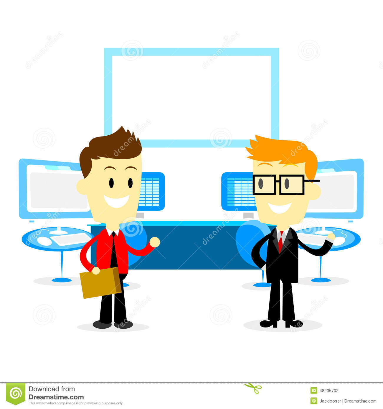 Welcome new employee stock illustrations 117 welcome new employee man introducing office studio to a new employee in flat cartoon style stock photography thecheapjerseys Images