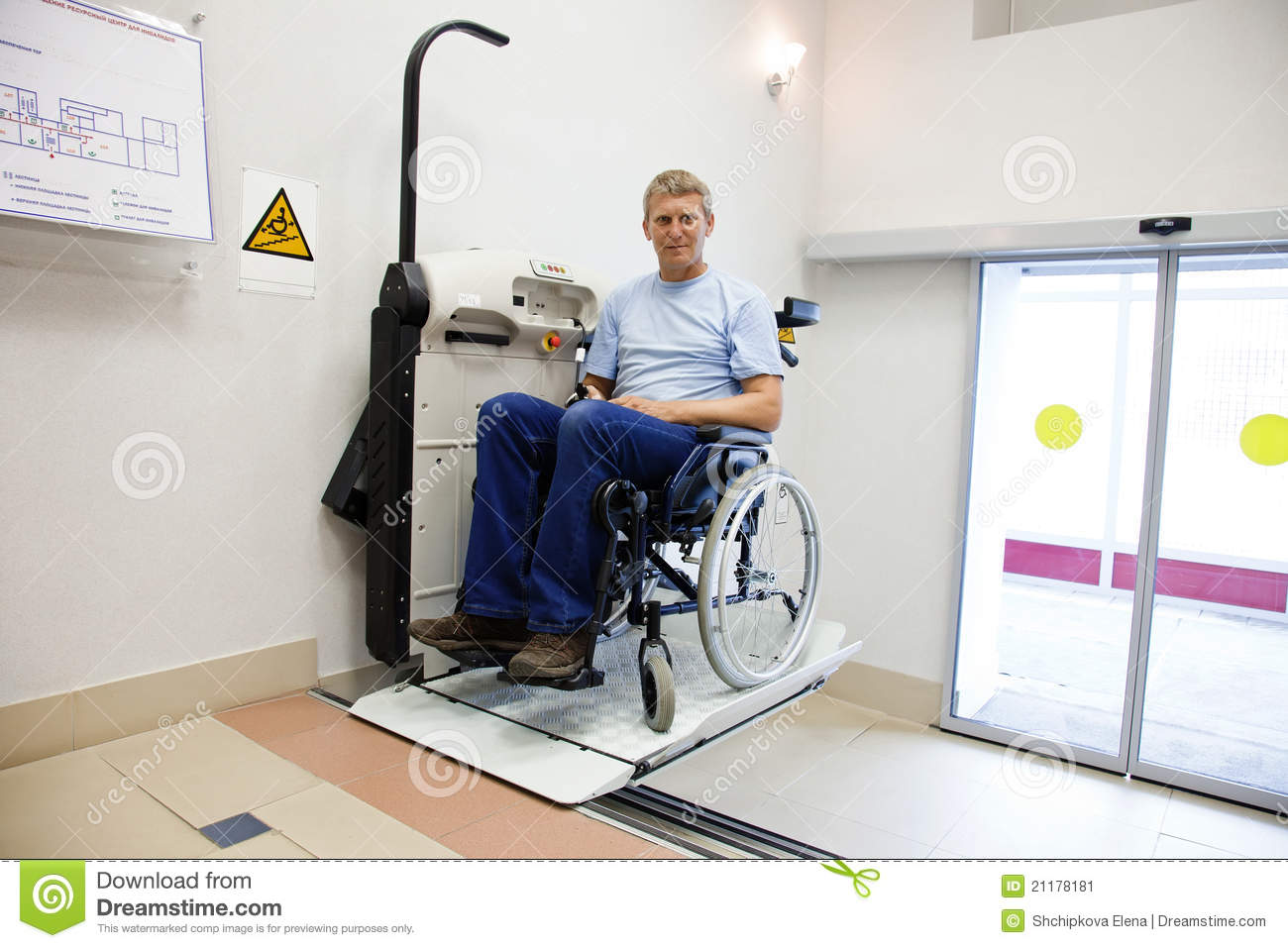 Man in an invalid chair