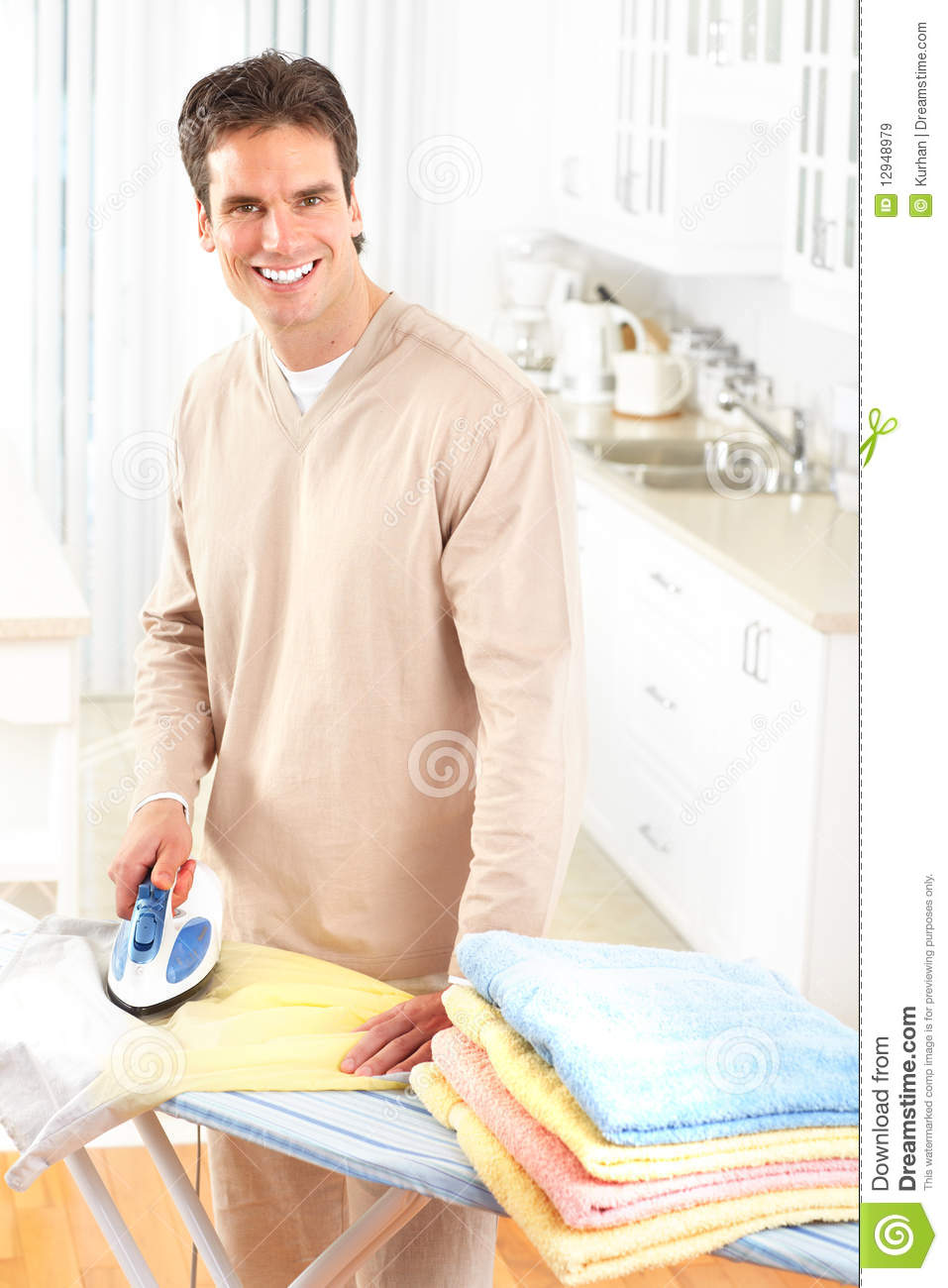 Man Ironing Clothes Royalty Free Stock Images - Image ...