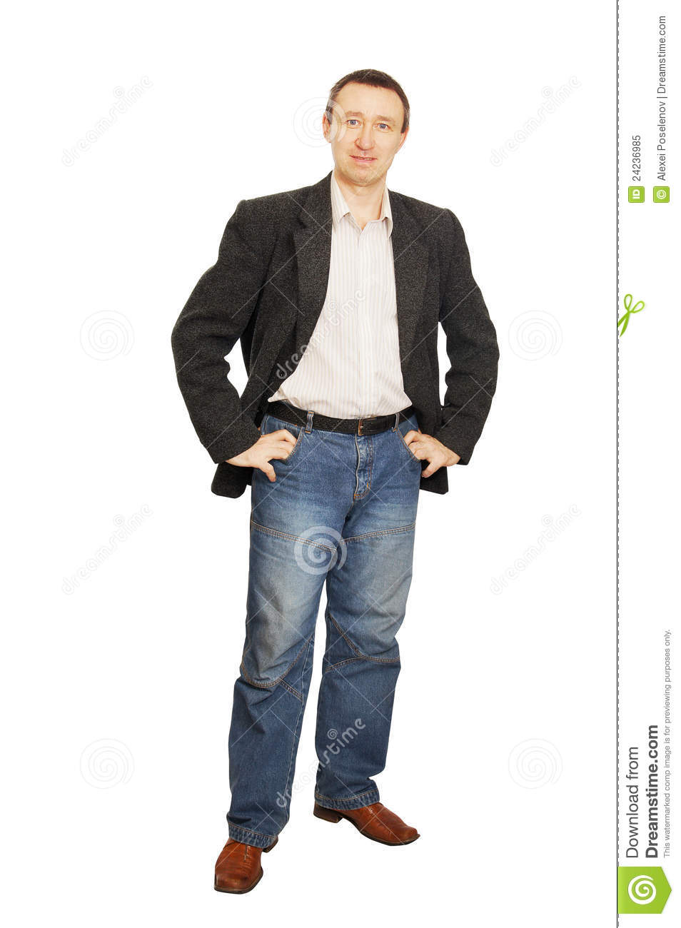 Man In A Jacket And Jeans Royalty Free Stock Photo - Image: 24236985