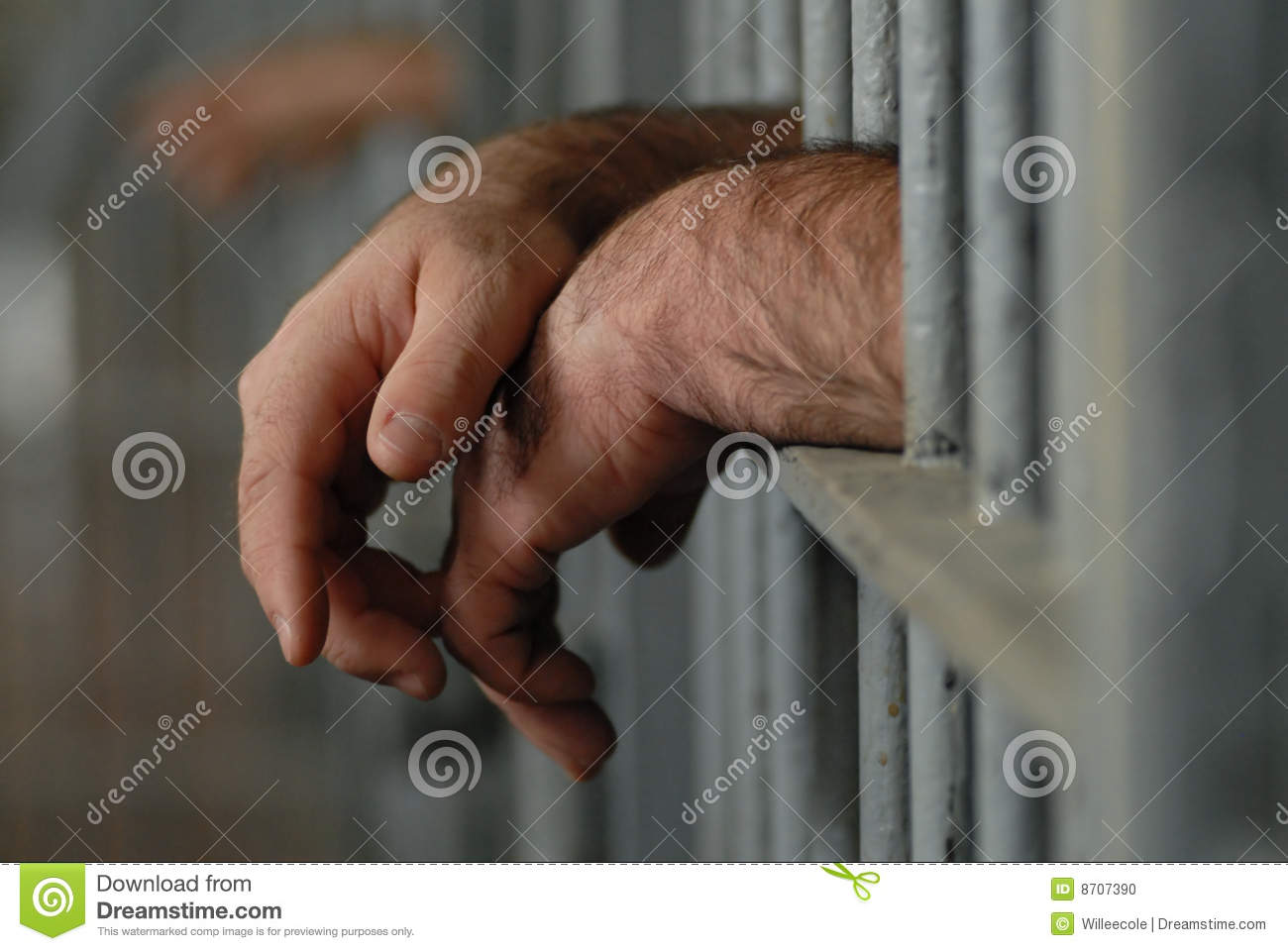 Man in jail or prison