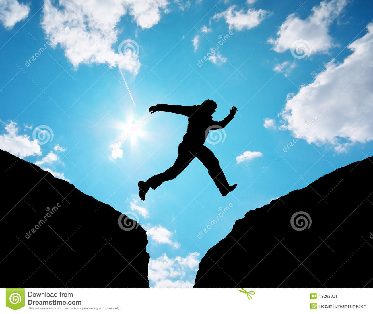 Man jump through the gap stock image image of active for Jump the gap