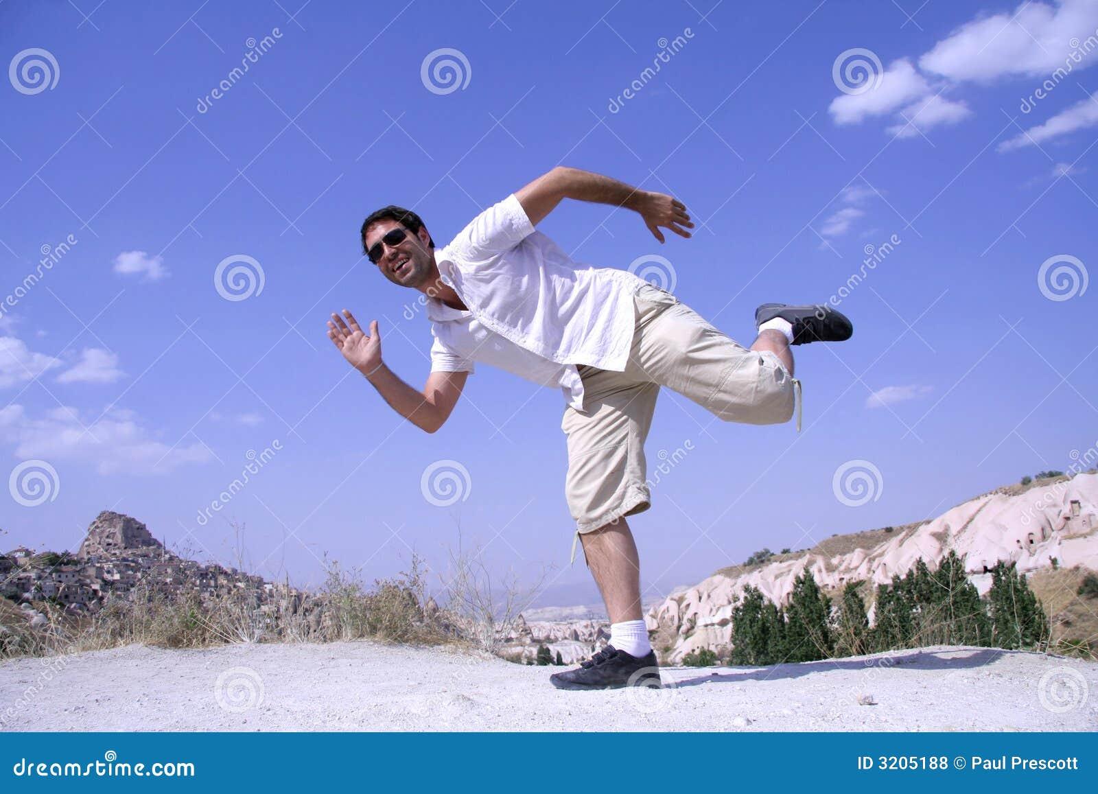 man jumping in joy royalty free stock photos image 3205188