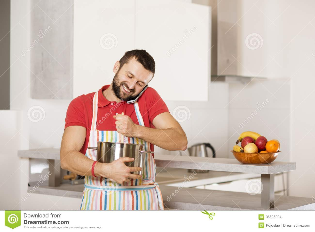 Royalty Free Stock Photo. Download Man In Kitchen ...