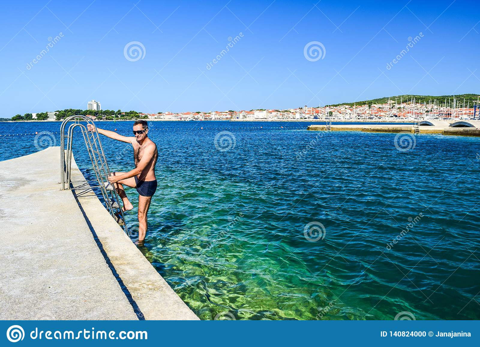 The Vodice beach, Croatia