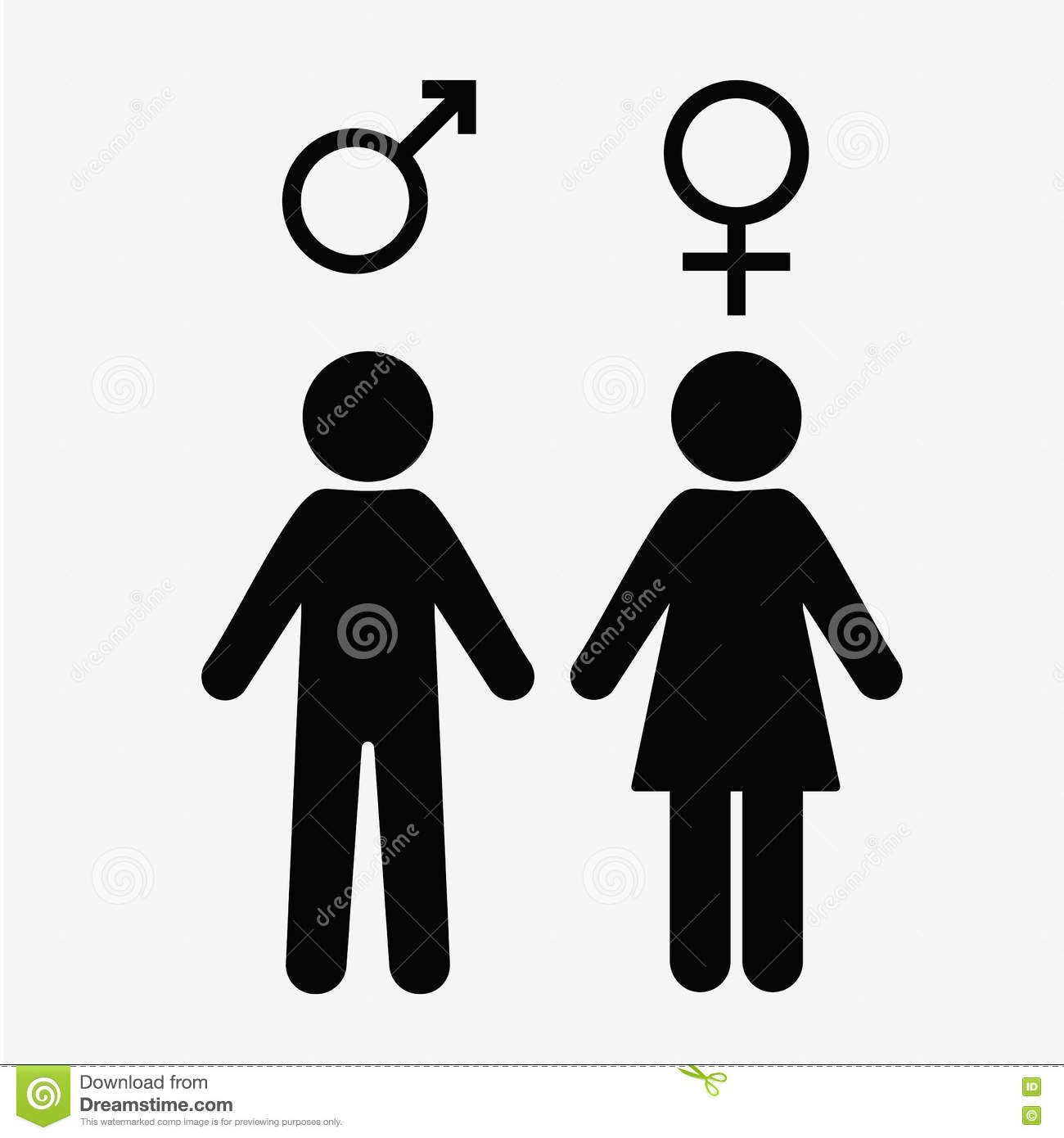 Download Man And Lady Toilet Sign Male Female Symbols Stock Illustration