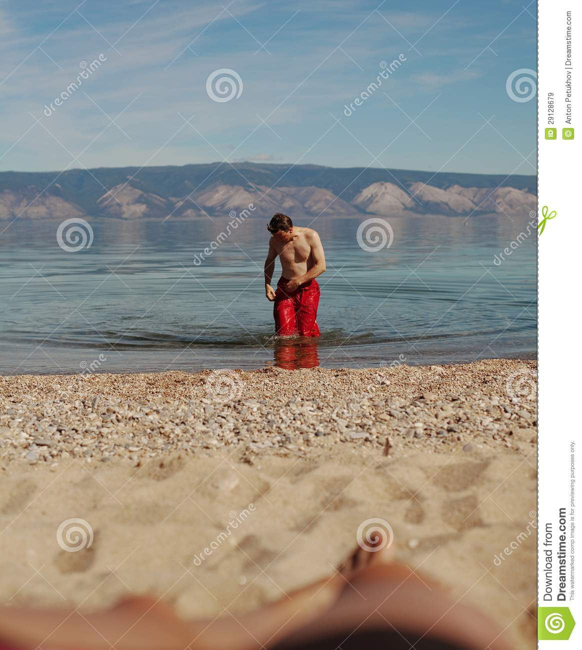 ... Baikal to beach on Olkhon Islands, Russian Federation, summer scene