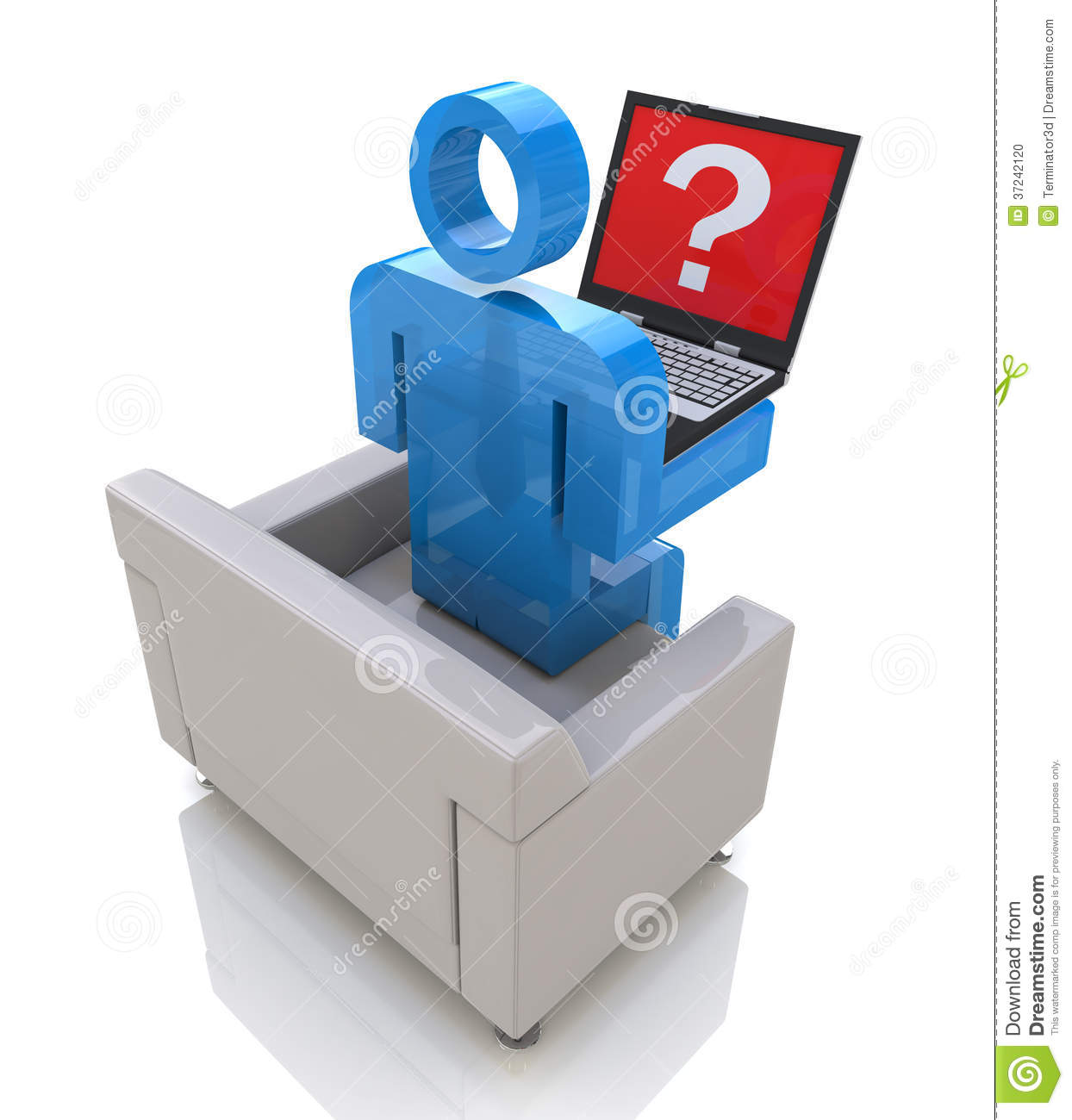 Man and laptop with a question stock photo image 37242120 for Decor questions