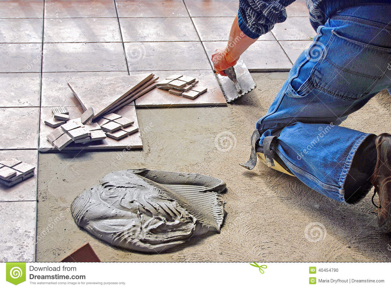 Man laying floor tile stock photo image of craftsmanship 40454790 man laying floor tile dailygadgetfo Gallery
