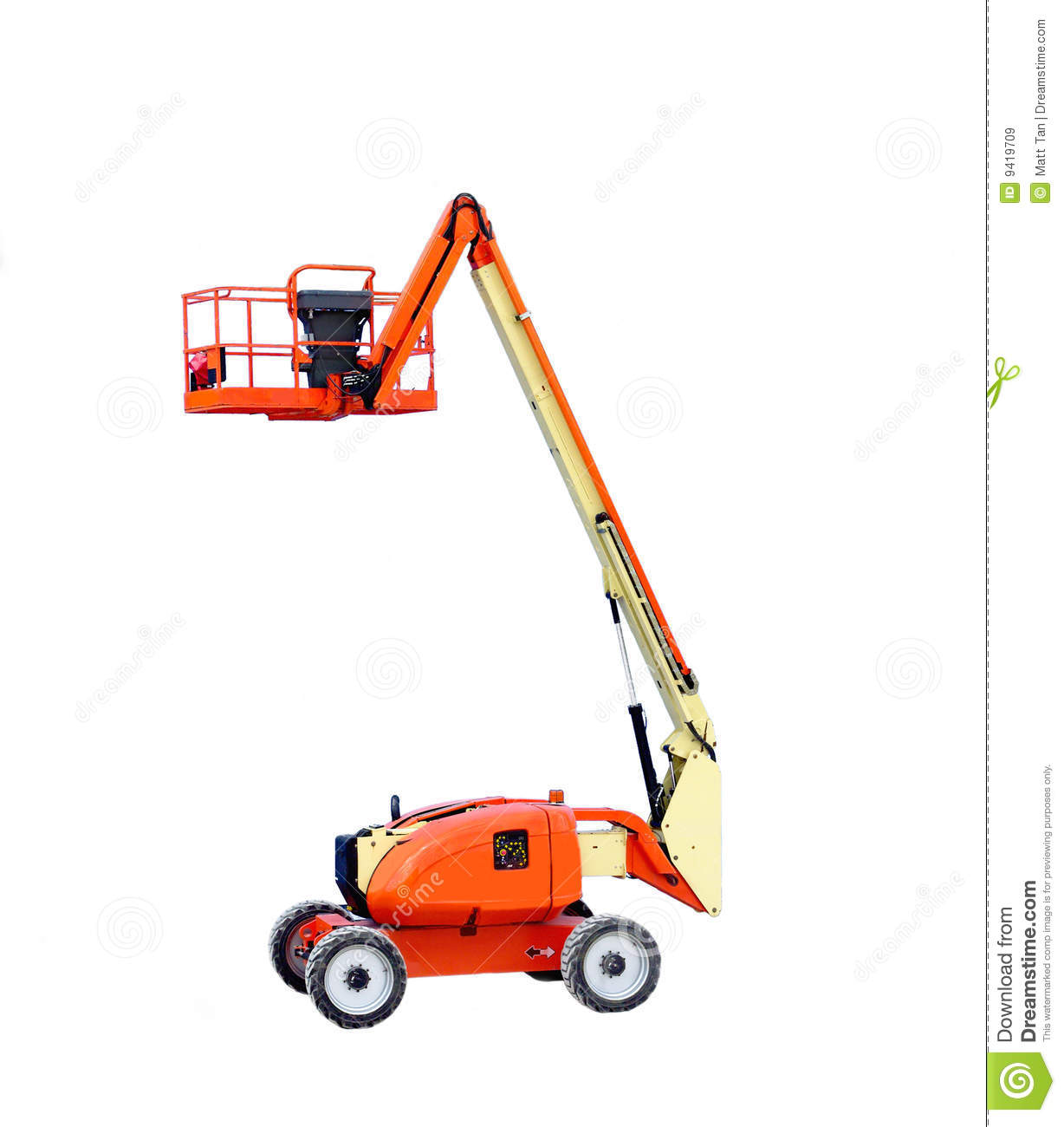 Construction Boom Lift Hydraulic : Man lift stock image of manlift industrial