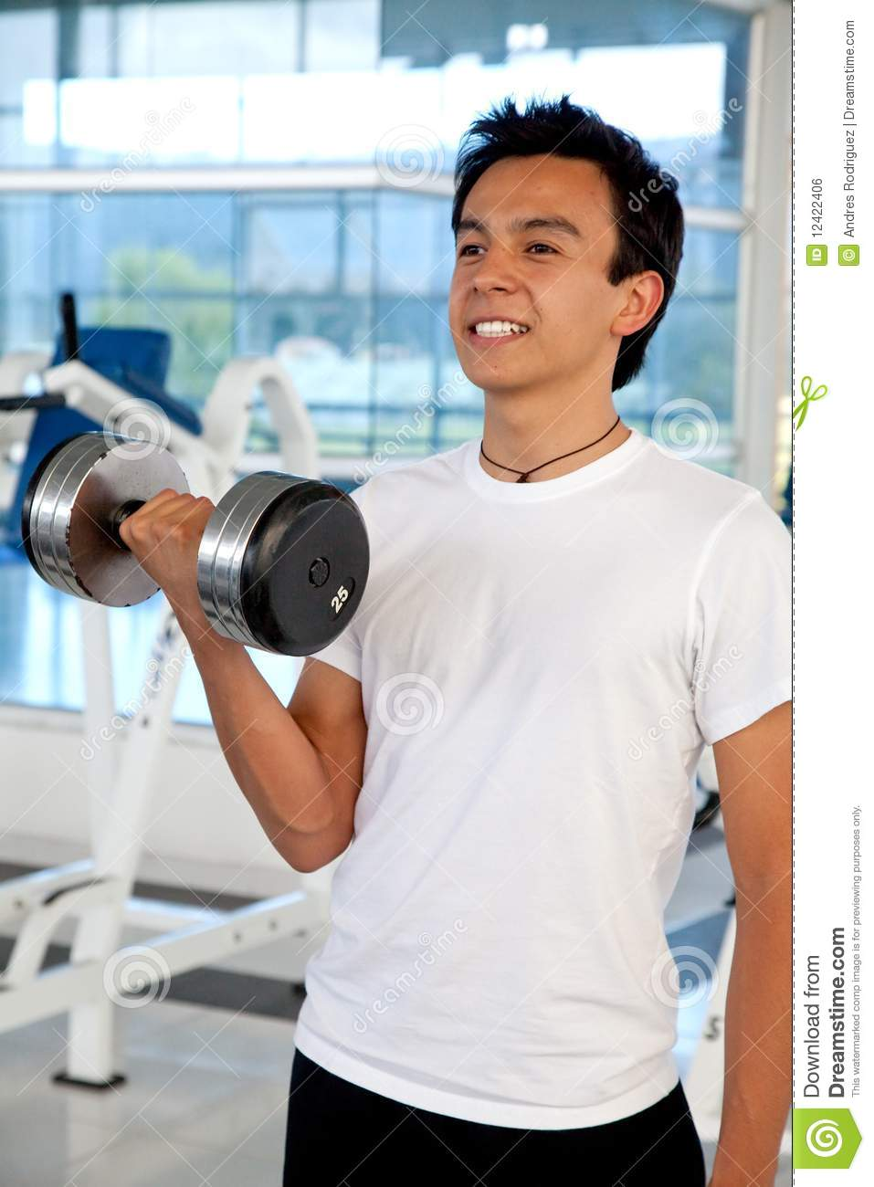 Man Lifting Weights Royalty Free Stock Image - Image: 12422406