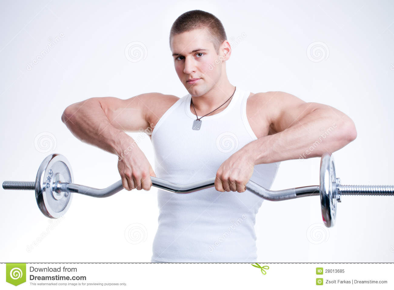 Man Lifting Weights Royalty Free Stock Photo - Image: 28013685