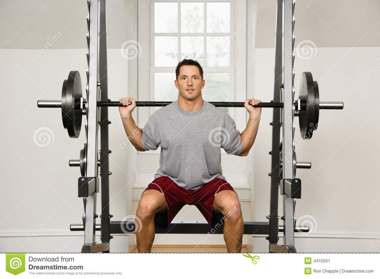 Man Lifting Weights Stock Image - Image: 4415551