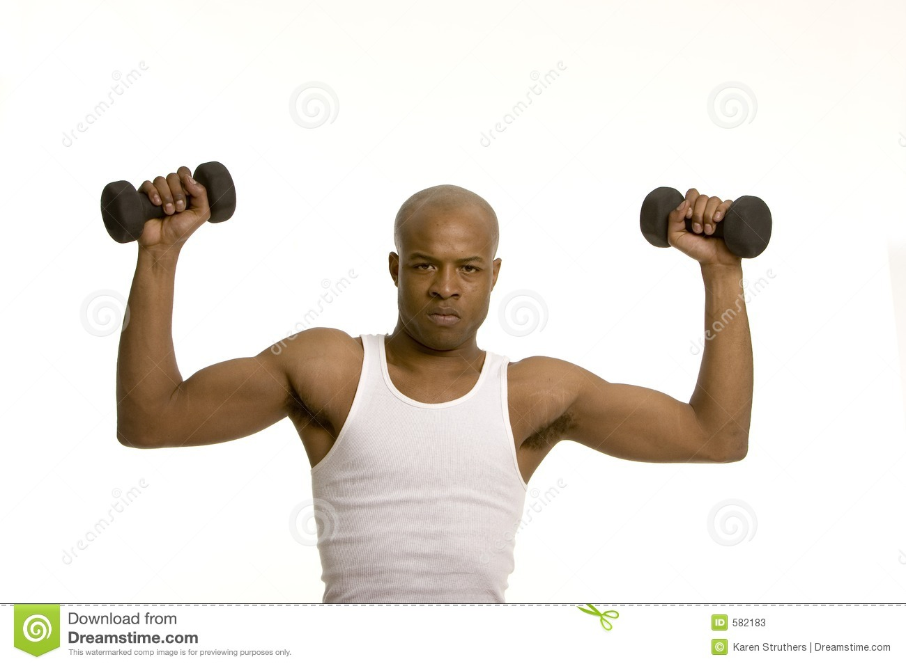 Man Lifting Weights Stock Photos - Image: 582183