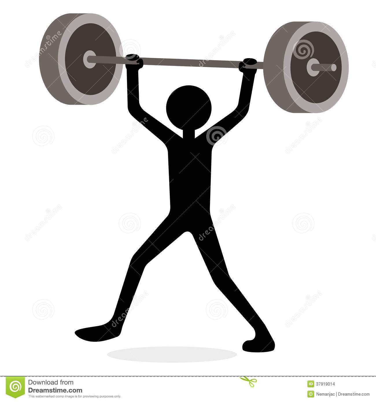 Man Lifting Weights, Funny Cartoon Concept Stock Images - Image ...