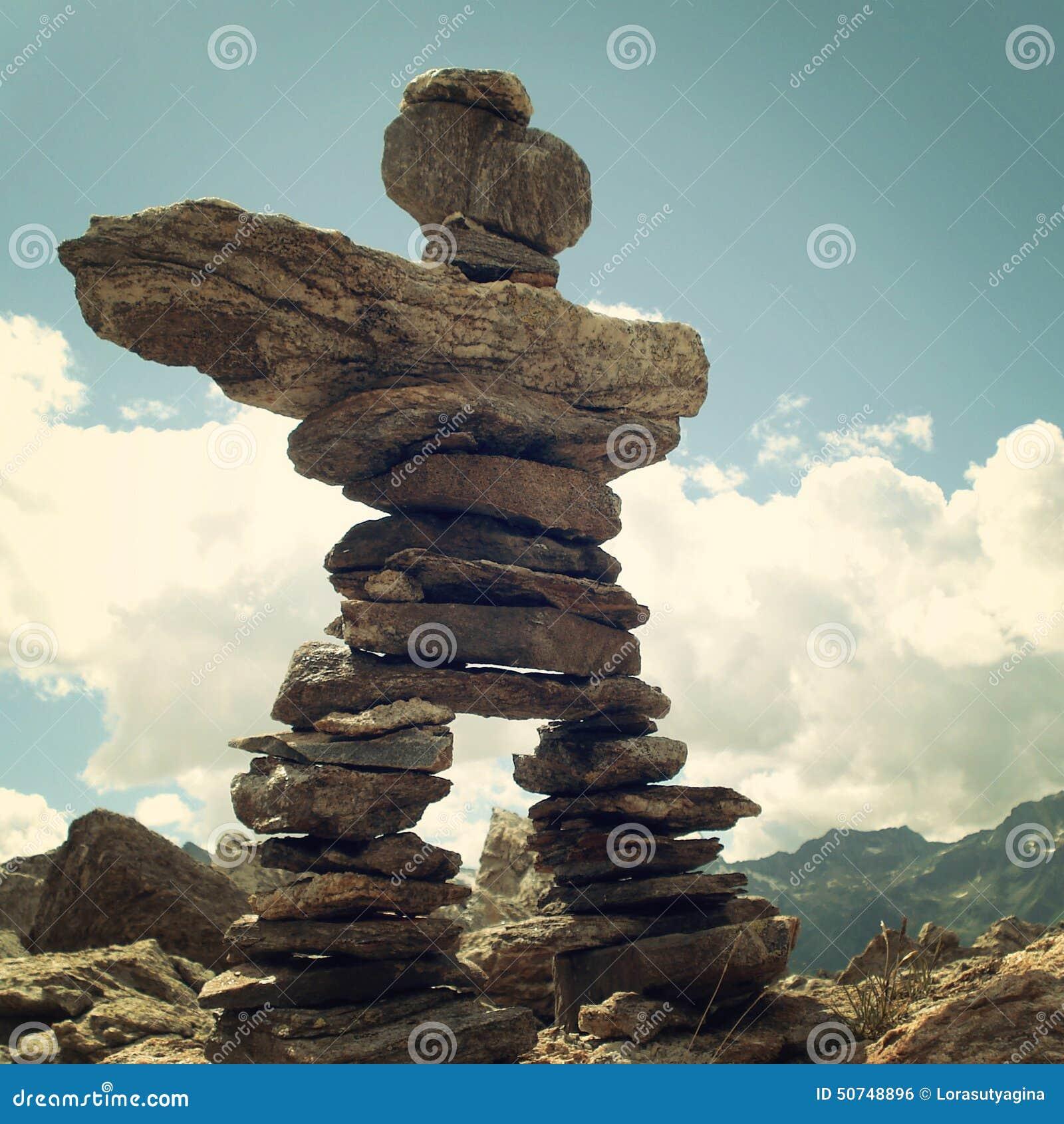 Stones Like Stones Essen like pyramid trail sign caucasus mountains vintage e stock photo image 50748896