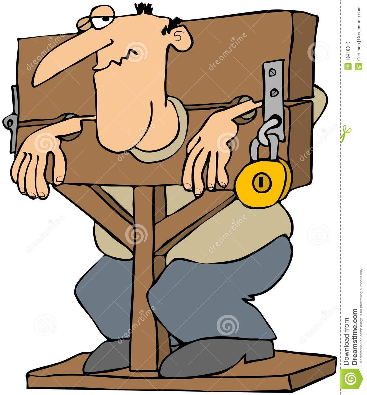 Pillory stocks adult pic