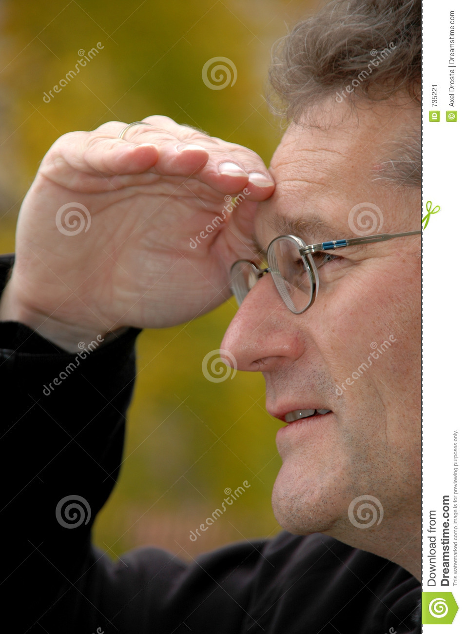 Man Looking Into Distance Stock Image - Image: 735221