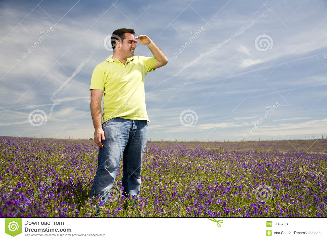 man looking at the horizon stock image image of clear 5146733