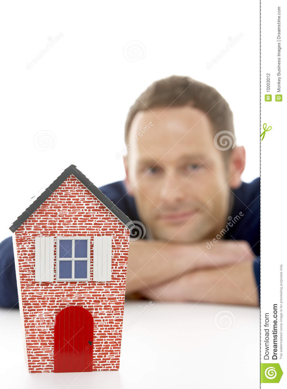 Download Man Looking At Model House stock photo. Image of model - 10003012