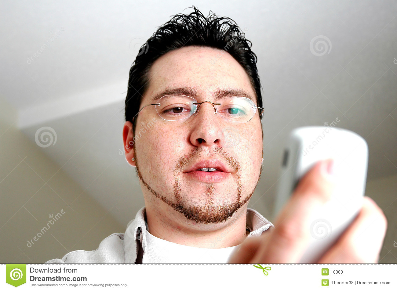 Man looking at phone
