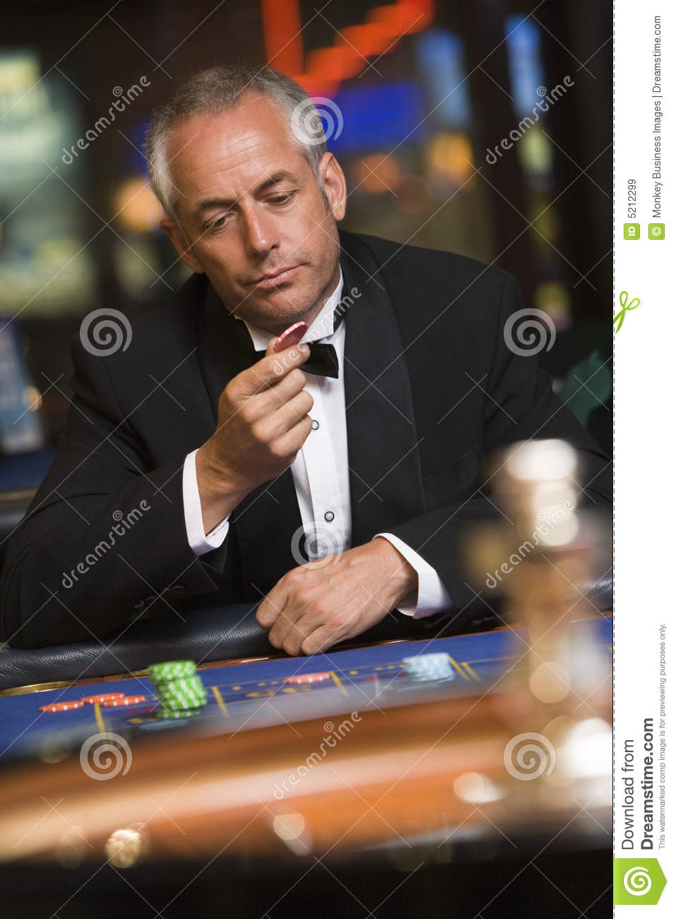 Man Losing At Roulette Table Royalty Free Stock Images - Image ...