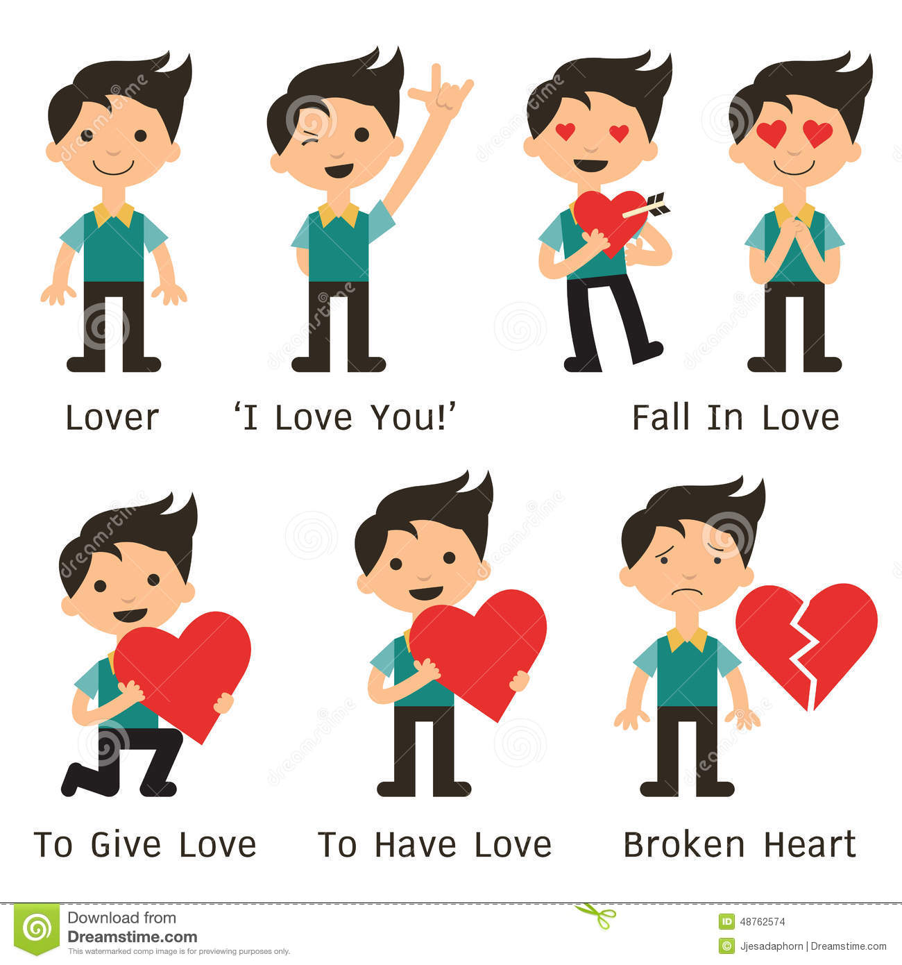 Anime Characters You Fall In Love With : Man with love stock vector image