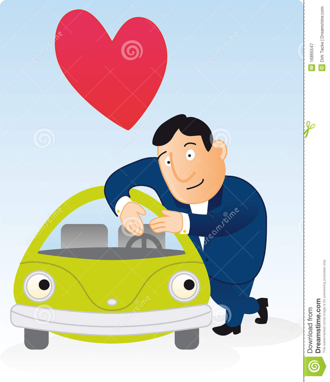 man loves his green car stock vector image of green friendly clipart black and white friendly clipart pic
