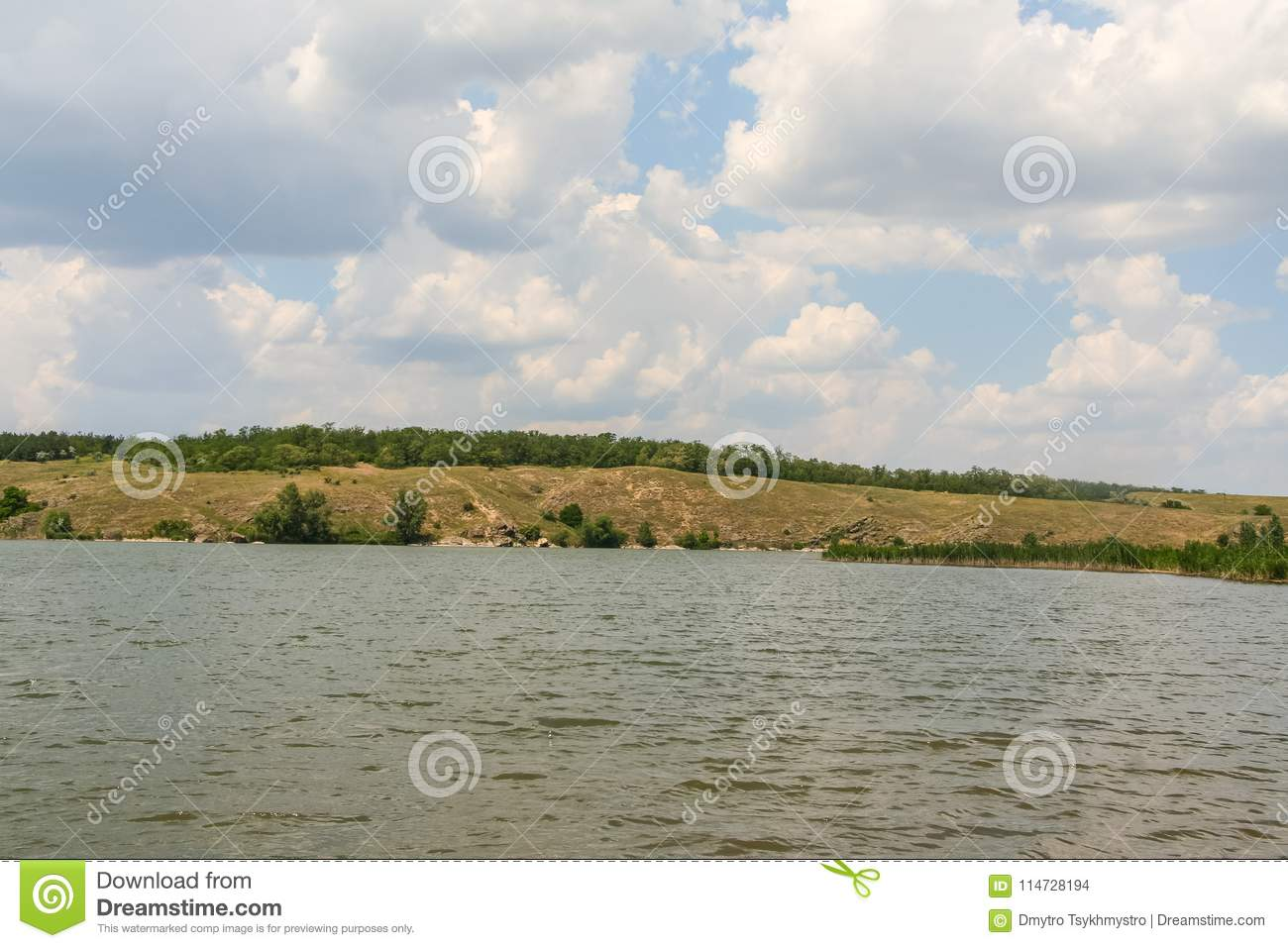 Man-made Pond In An Old Stone Quarry Stock Photo - Image of