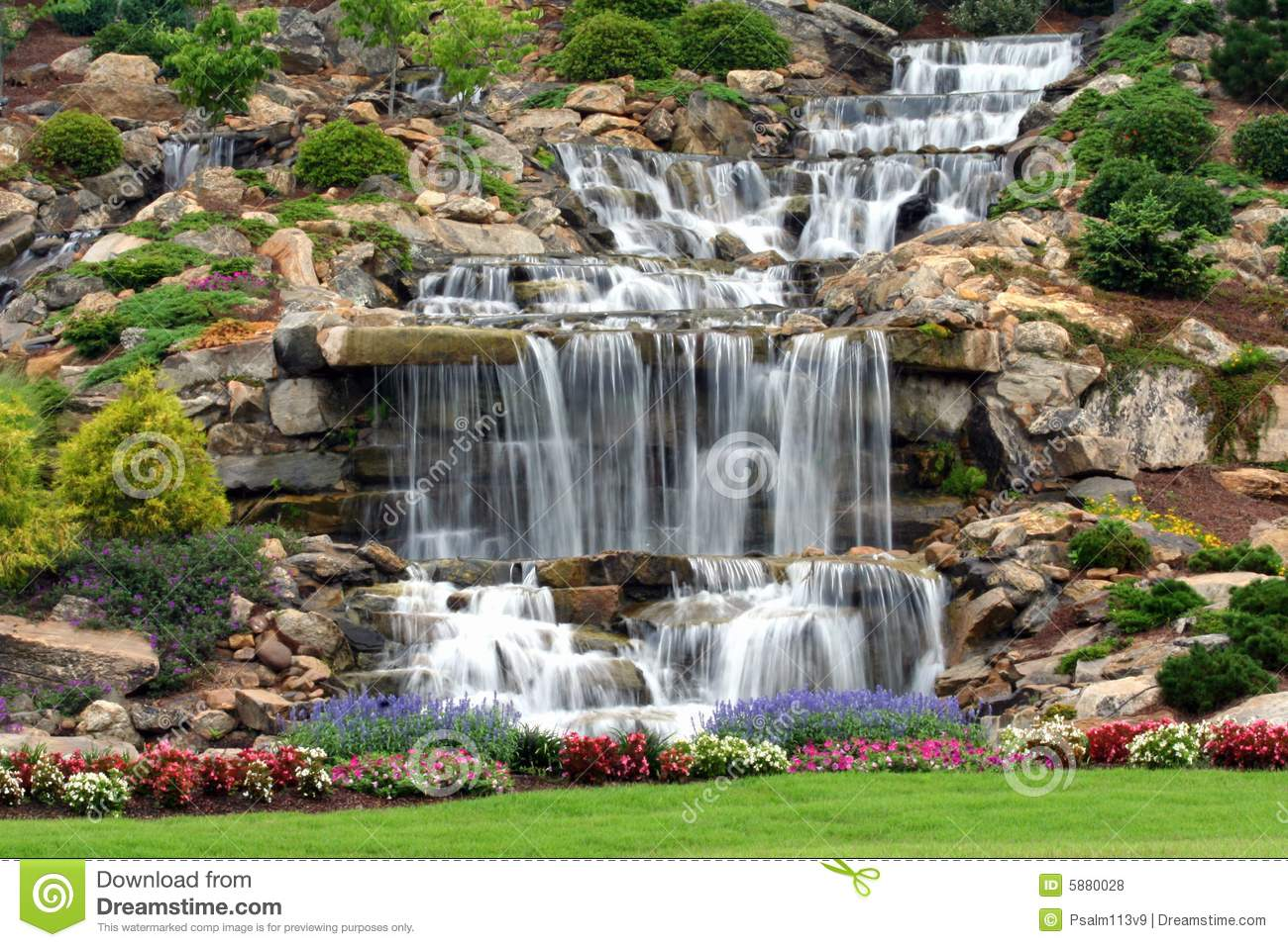 Man Made Waterfall Royalty Free Stock Photos  Image: 5880028