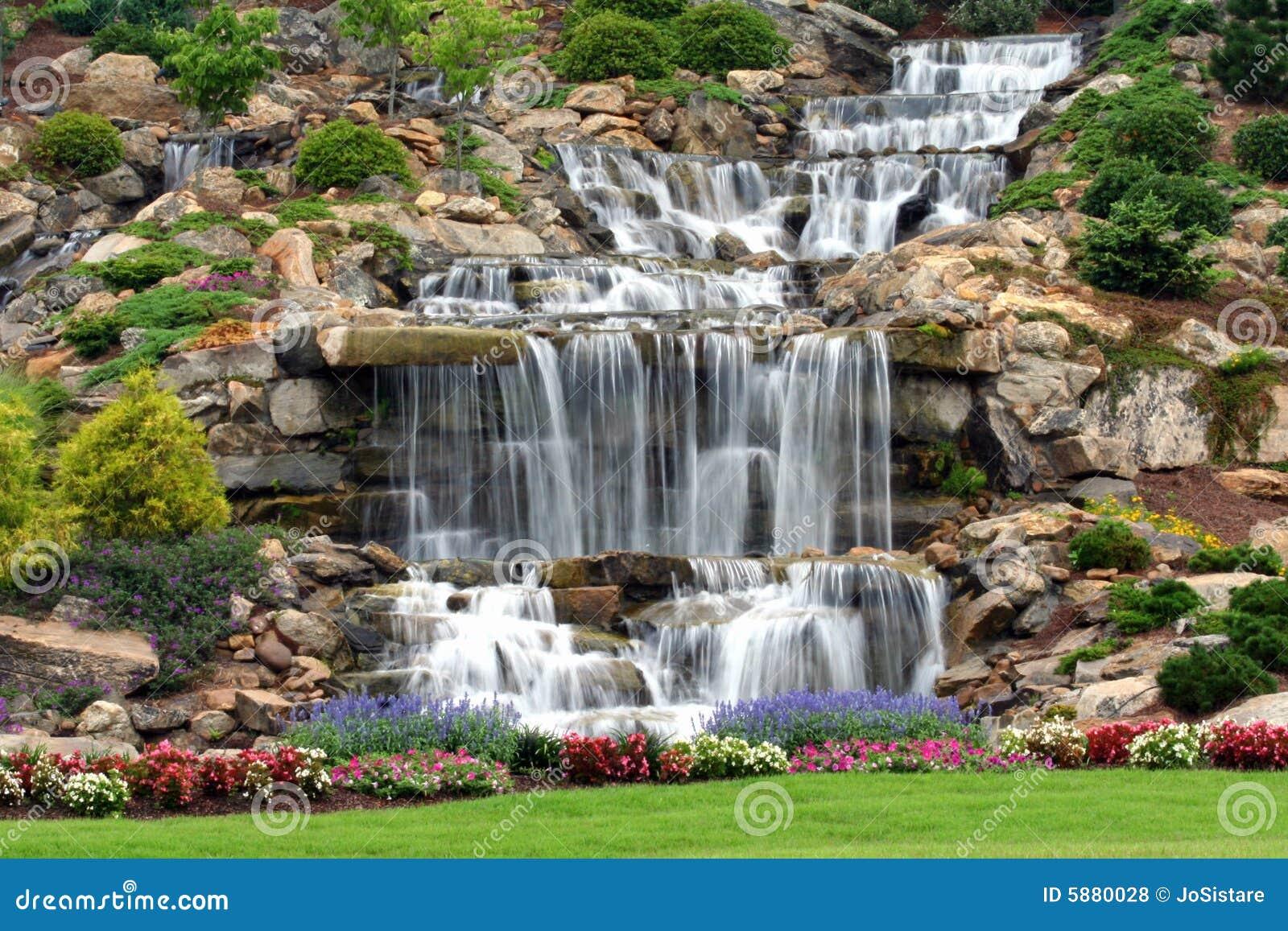 Man Made Waterfall Royalty Free Stock Photos Image 5880028