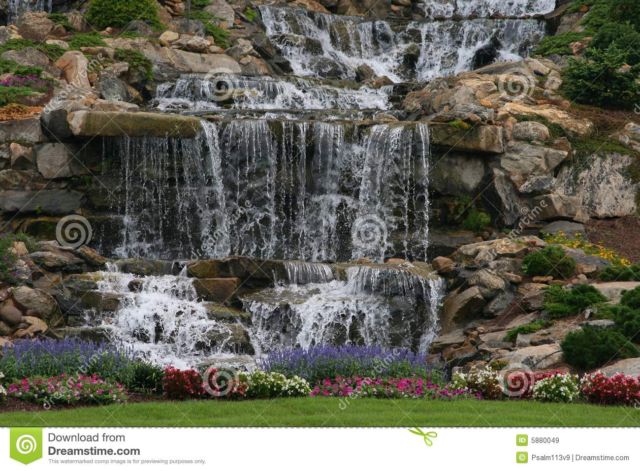 Man Made Waterfall Royalty Free Stock Images  Image: 5880049