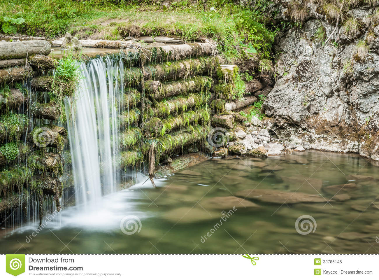 Man Made Waterfall Royalty Free Stock Photo  Image: 33786145