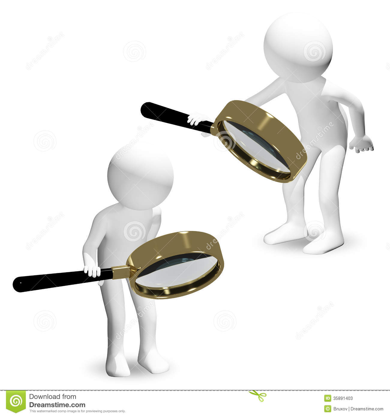 Business Man With A Magnifier In Hand Royalty Free Stock Image ...