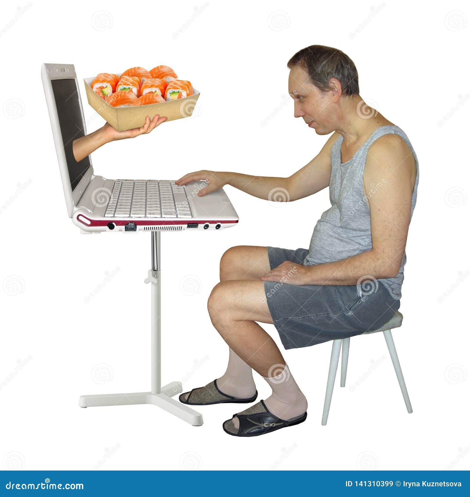 Man orders sushi online