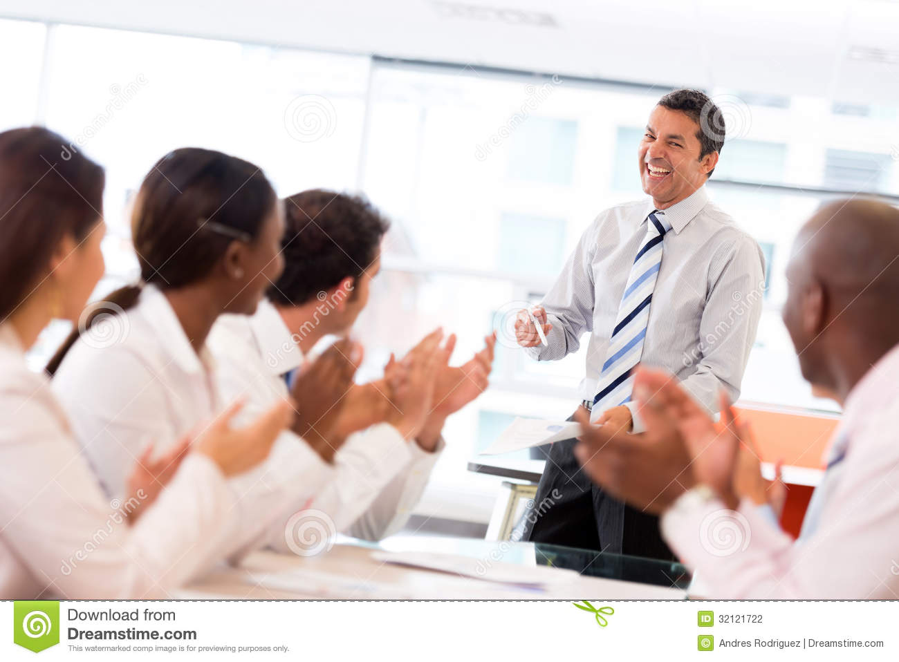 Man Making A Business Presentation Stock Photography - Image: 32121722