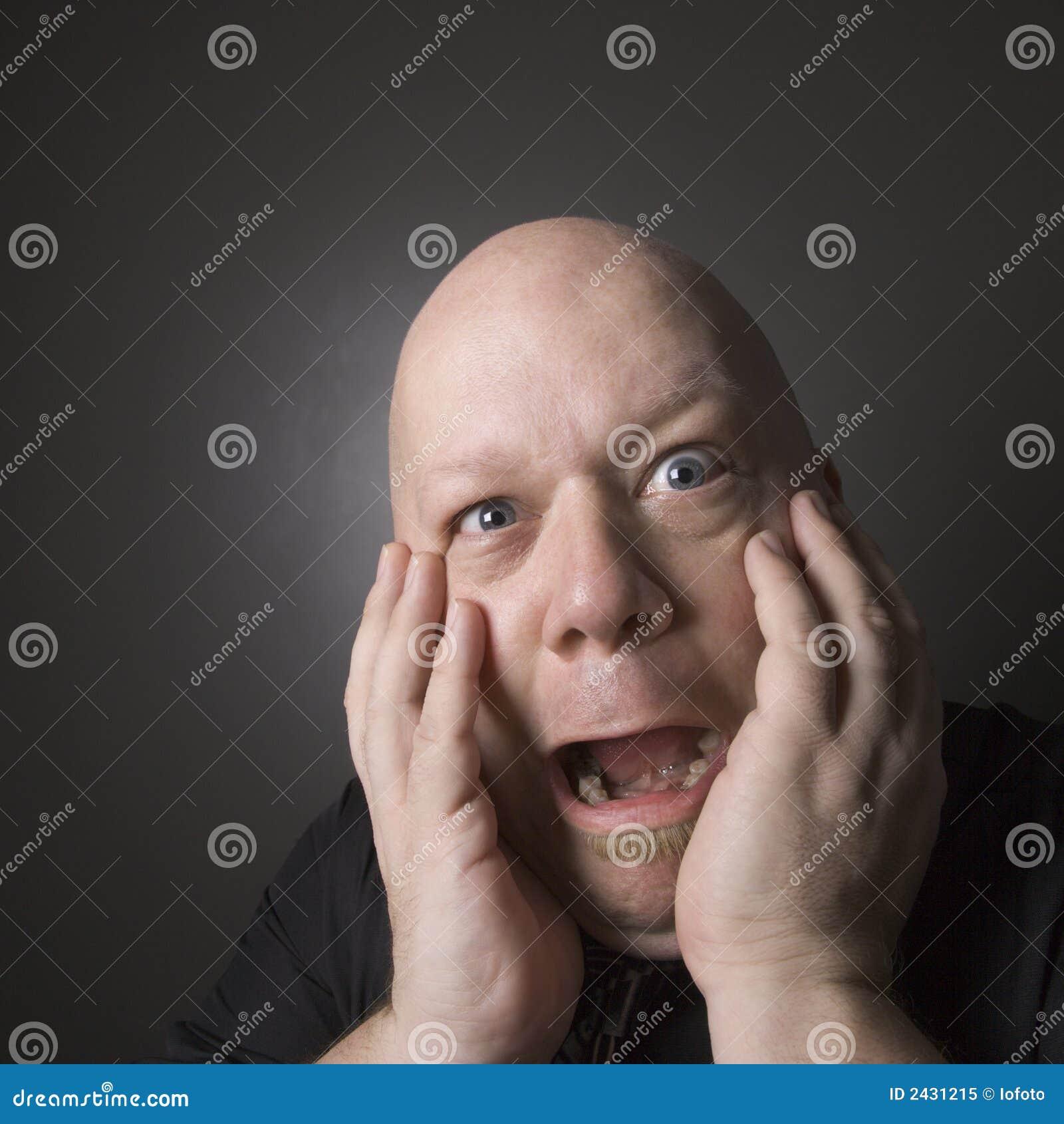 expression facial man