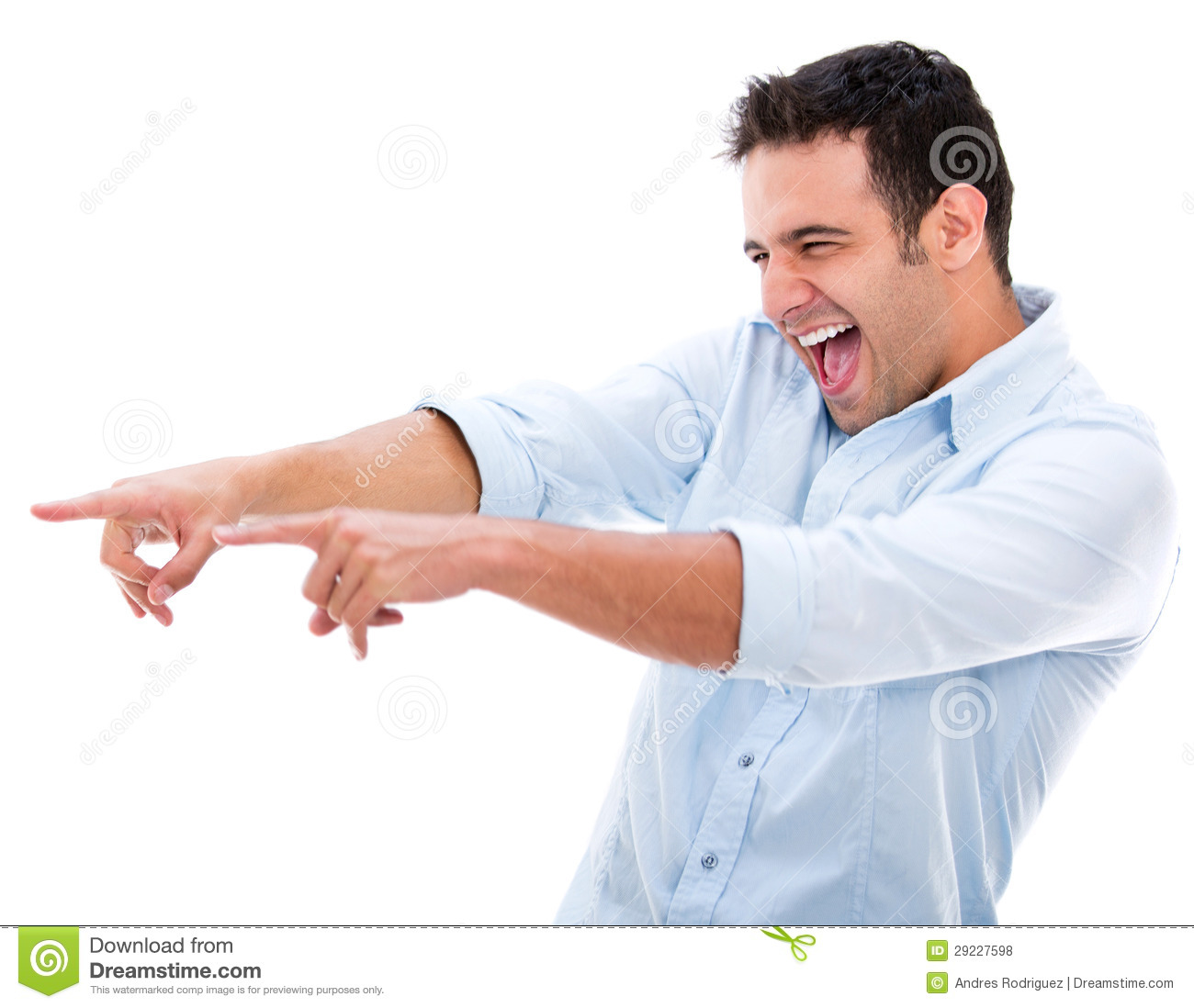 Man Making Fun Of Something Royalty Free Stock Photos - Image ...