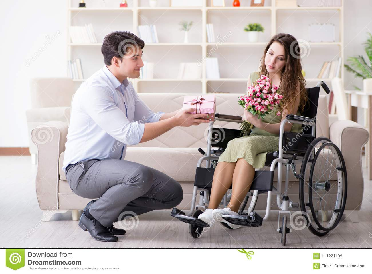 He decided to marry a disabled person