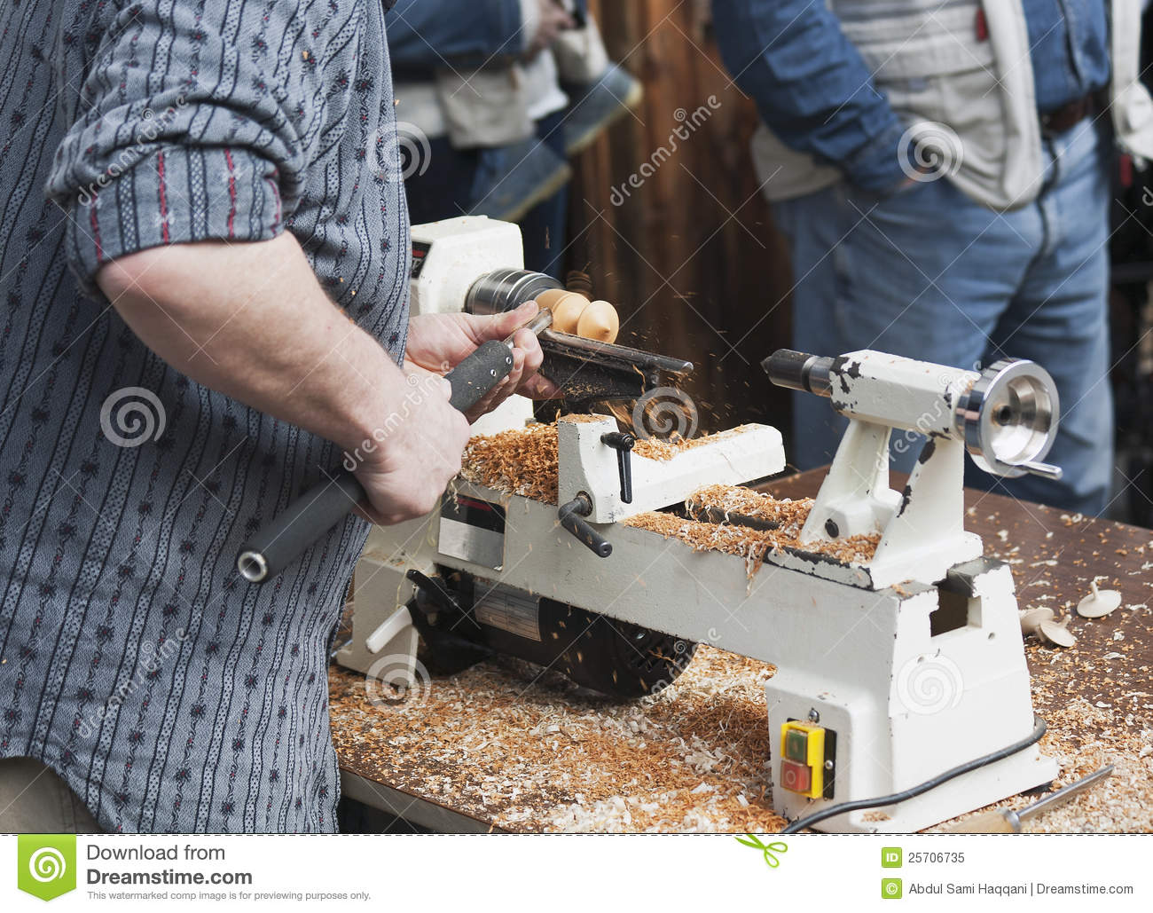 man making wooden toy stock image. image of crafts