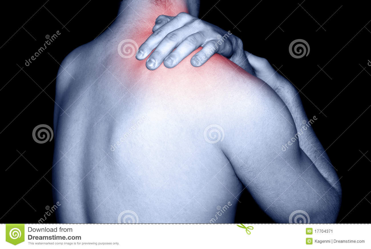 Man massaging shoulder pain