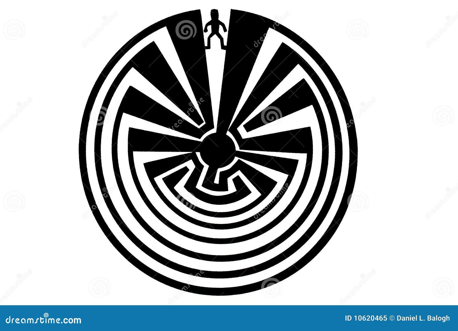 Man In The Maze Indian Symbol Stock Illustration Illustration Of