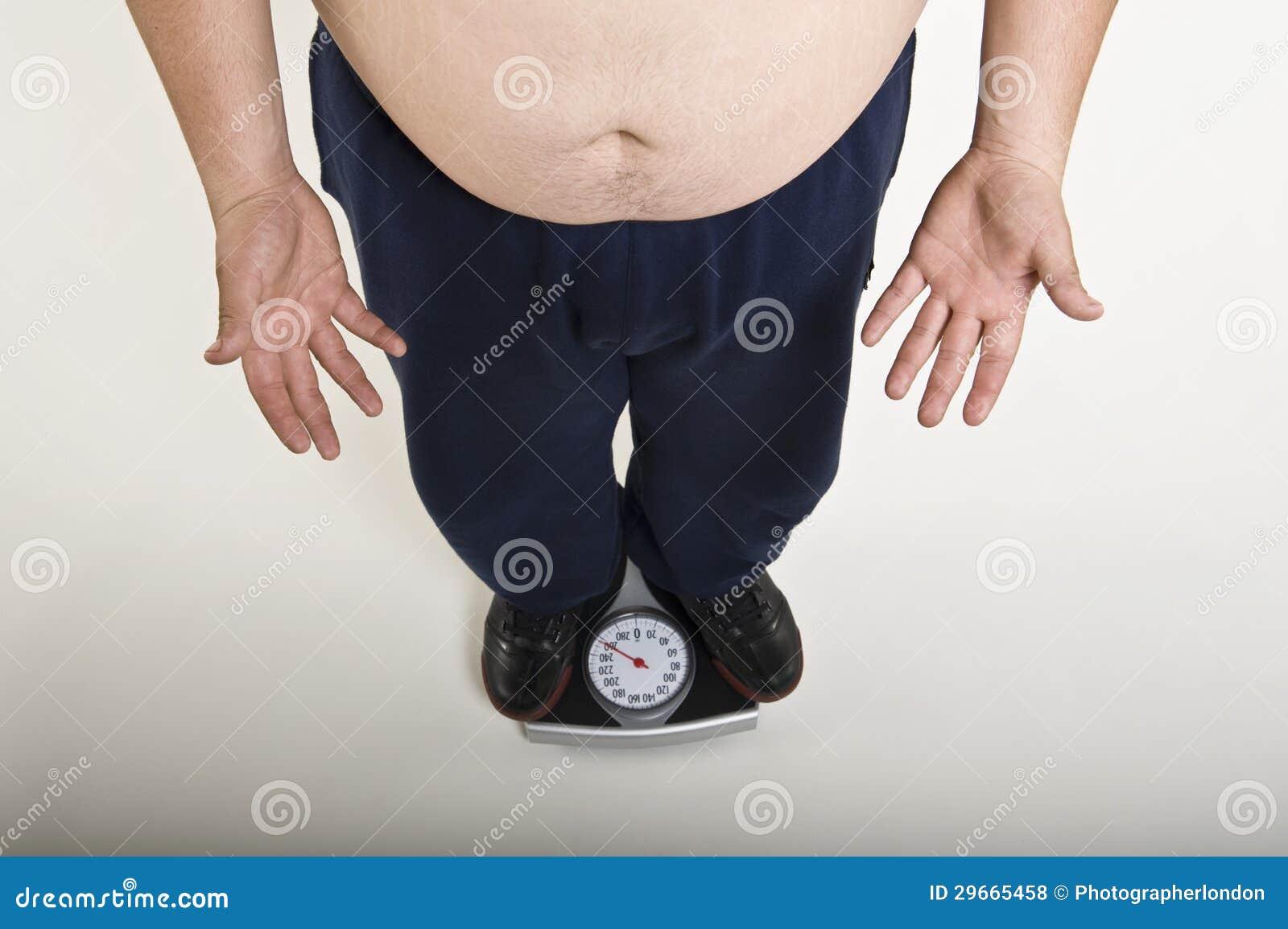 Man Measuring His Weight