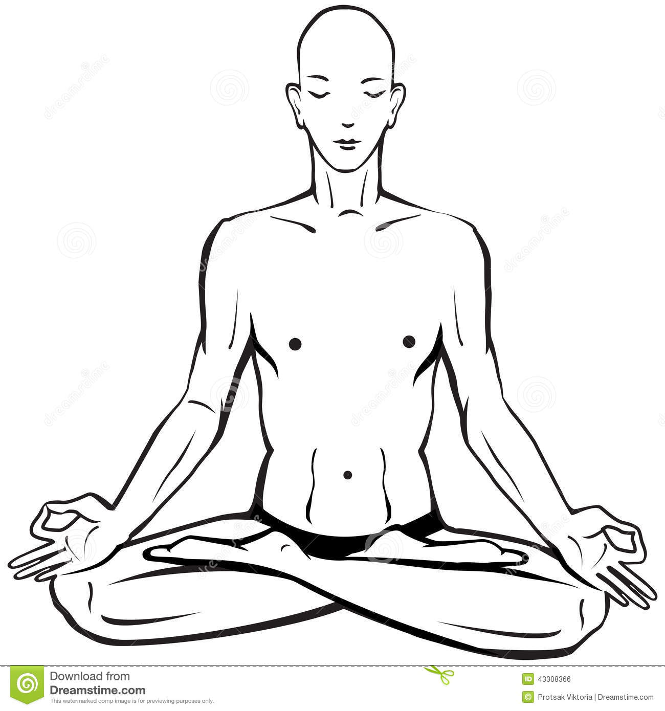 Line Drawing Yoga Pose : Man in meditating and doing yoga poses stock vector