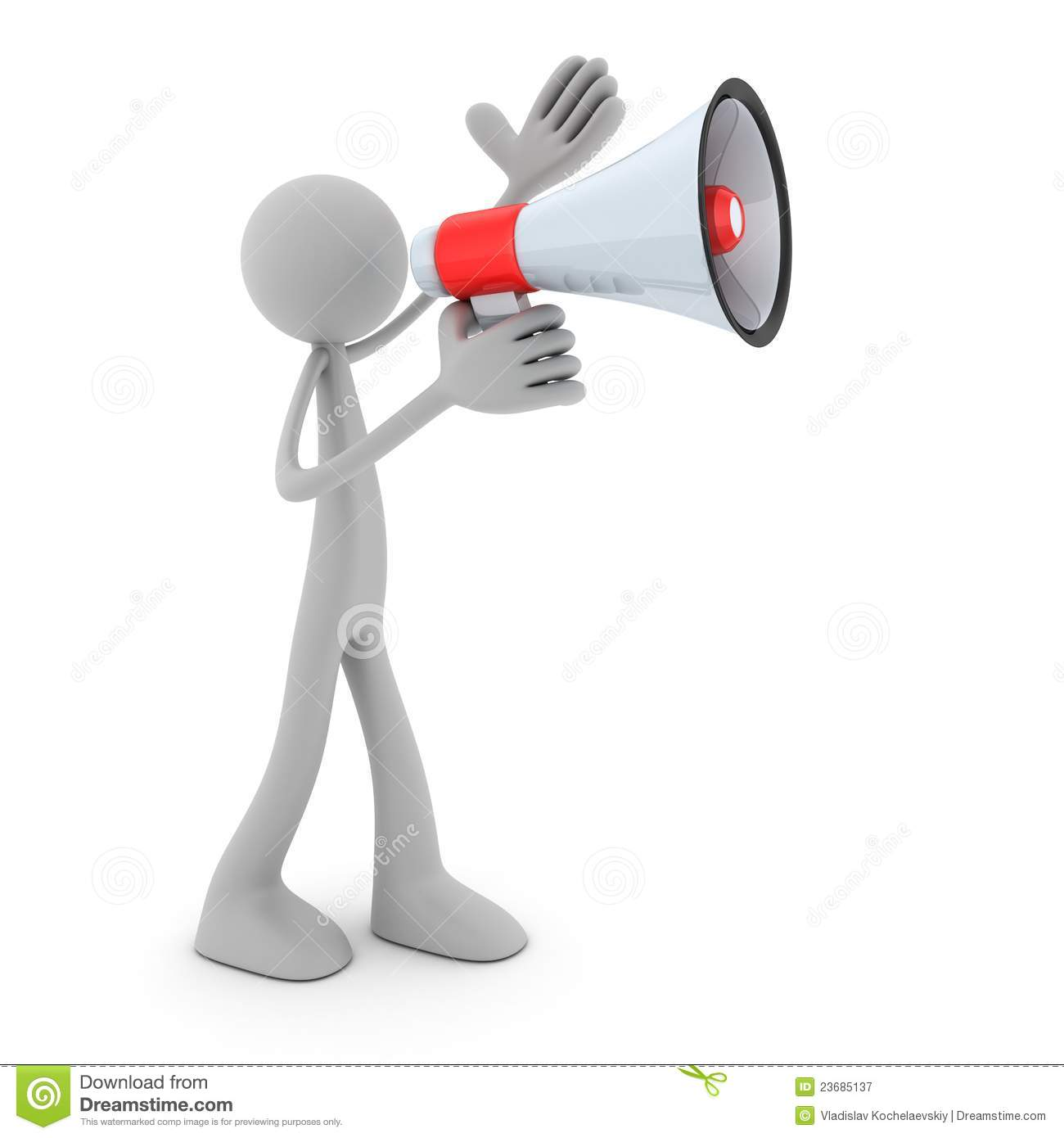 Man With A Megaphone Royalty Free Stock Photography - Image: 23685137