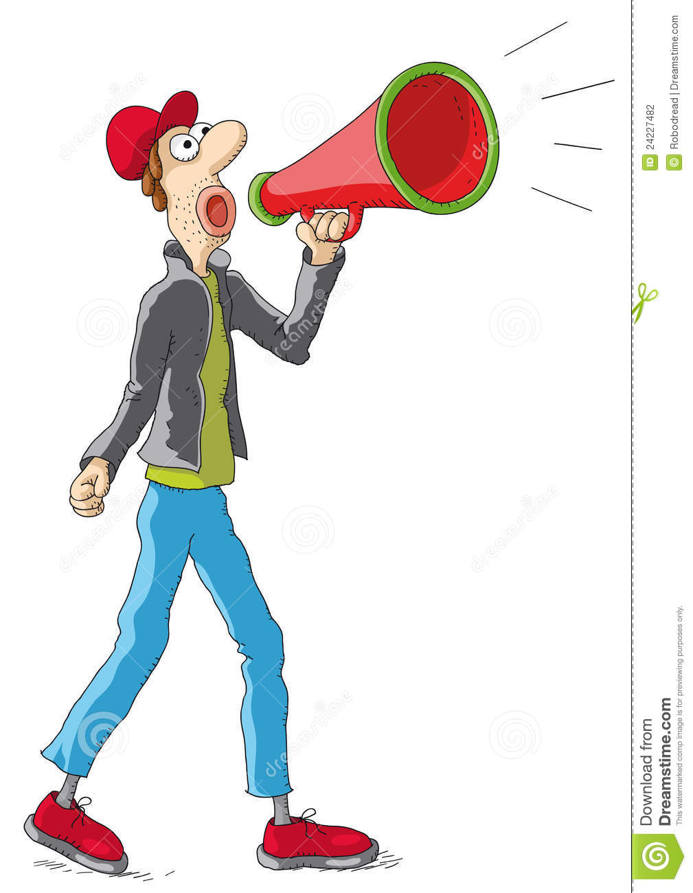 clipart man with megaphone - photo #14