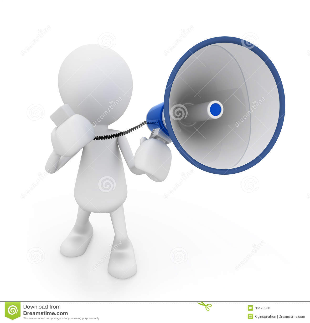 clipart man with megaphone - photo #4