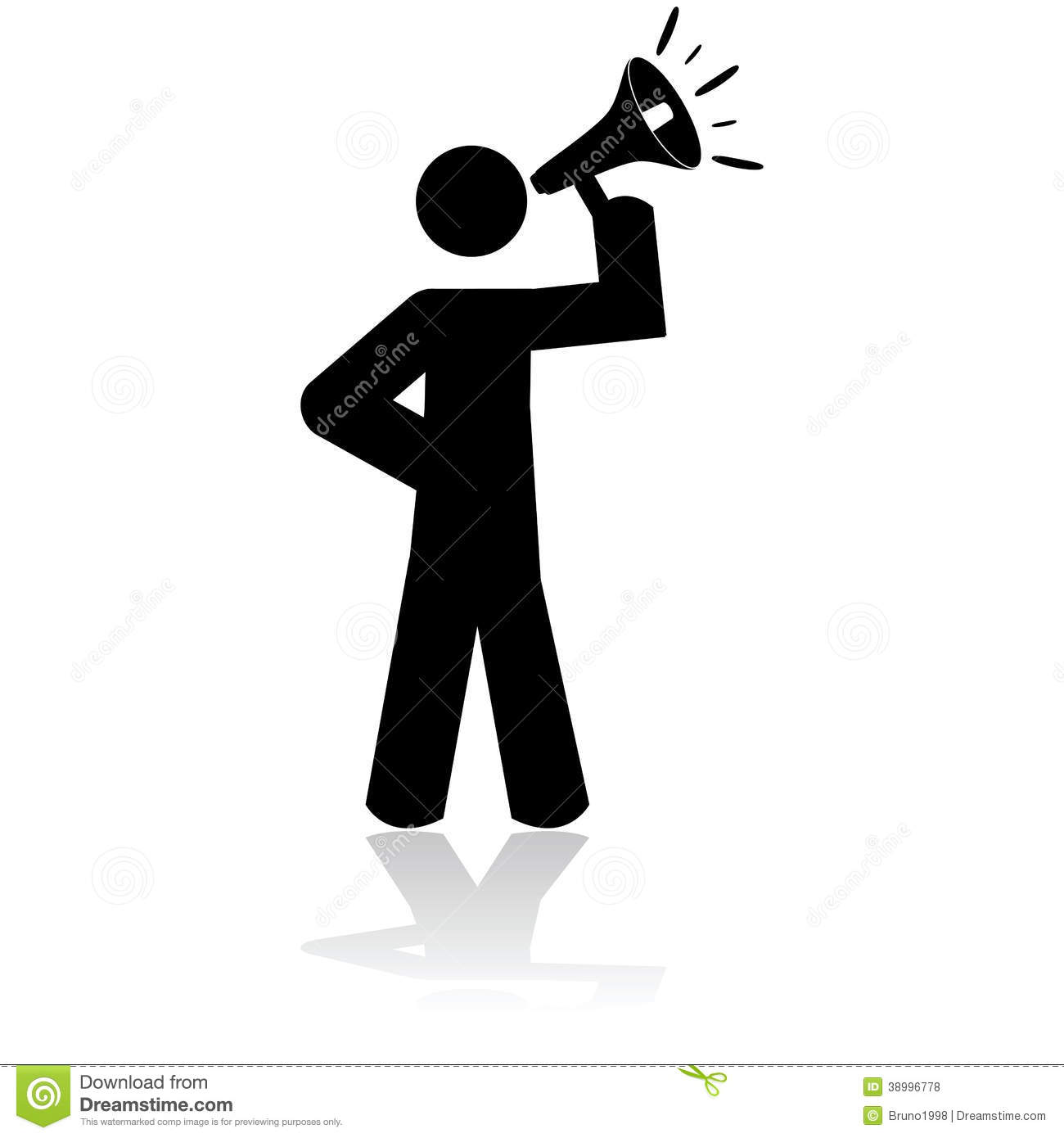 clipart man with megaphone - photo #31