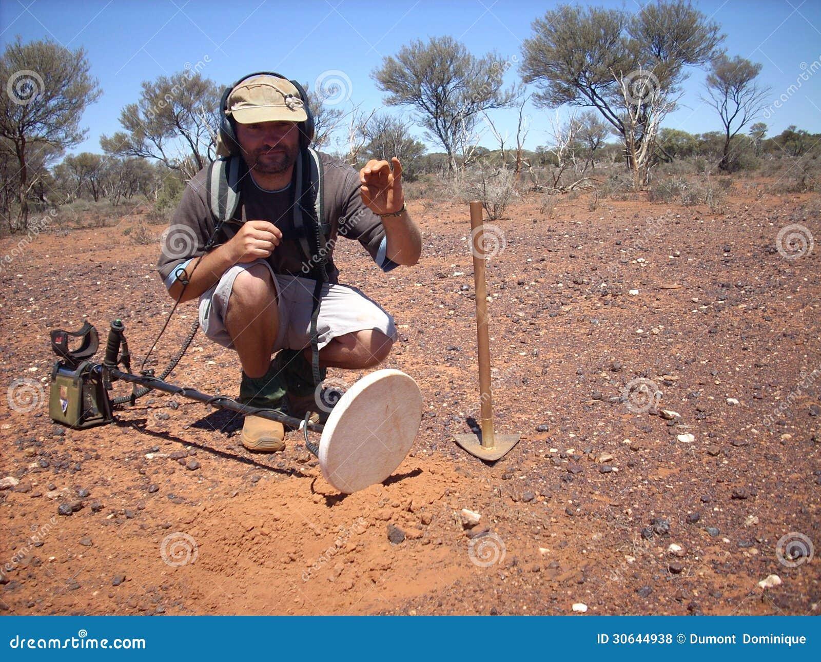 Jew Detector: Man,metal Detecting Editorial Stock Photo